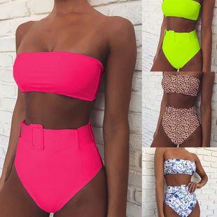 hot bikini fashion bikini high waist printed swimsuit NHDA205001's discount tags