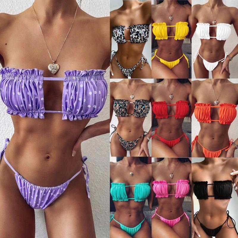 New swimsuit hot sexy pleated hollow bikini wholesale NHDA205012