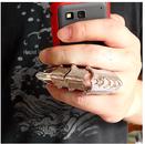 Fashion exaggerated joint nail ring NHSC205087