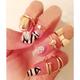 Fashion Love Bow Skull Combination Ring NHSC205084