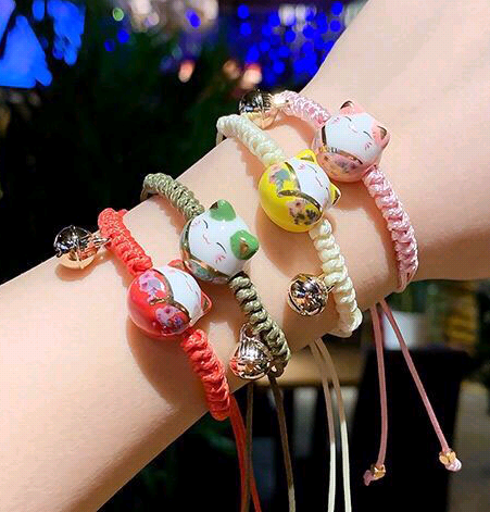 Bracelet de tissage de chat porte-bonheur en céramique OL de mode coréenne doux NHSC205079's discount tags