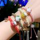 Korean fashion sweet OL ceramic lucky cat weaving bracelet NHSC205079