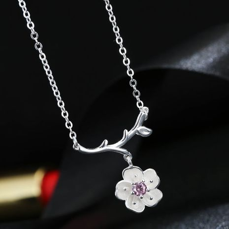 Yi wu jewelry Korean Fashion Sweet Flower Necklace Wholesale NHSC205745's discount tags