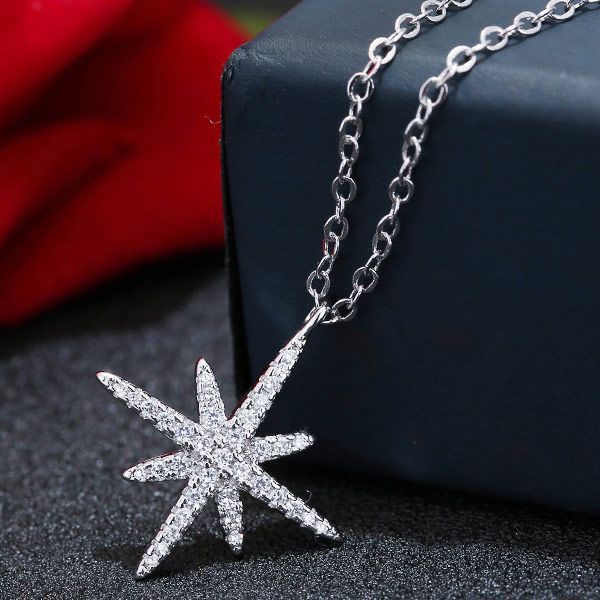 Yi wu jewelry copper sweet sun flower starfish zircon necklace wholesale NHSC205739
