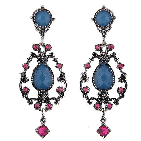 Yi wu jewelry fashion metal retro simple gem earrings wholesale NHSC205733