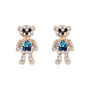 New fashion simple cute diamond earrings wholesale NHSE203860