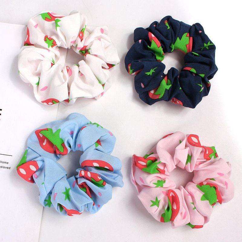 New fashion pineapple fabric cheap hair ring wholesale NHDM205023