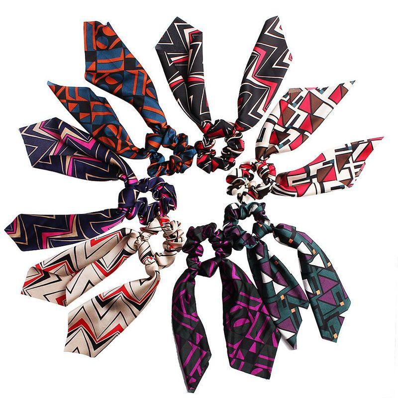 New fashion satin big bow elastic ribbon cloth cheap hair ring wholesale NHDM205032