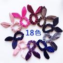 New fashion gold velvet steel silk rabbit ear flannel Korean simple fashion cheap hair ring wholesale NHDM205033