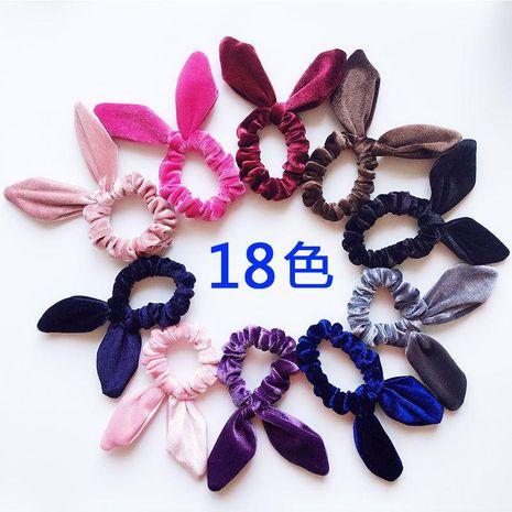 New fashion gold velvet steel silk rabbit ear flannel Korean simple fashion cheap hair ring wholesale NHDM205033's discount tags