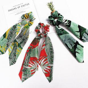 New Fashion Banana Leaf Ribbon Print Scarf Square Scarf Cheap Hair Circle Wholesale NHDM205037's discount tags