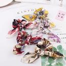 New fashion sweet floral hair ring big bow long ribbon rabbit ear cheap hair rope wholesale NHDM205054