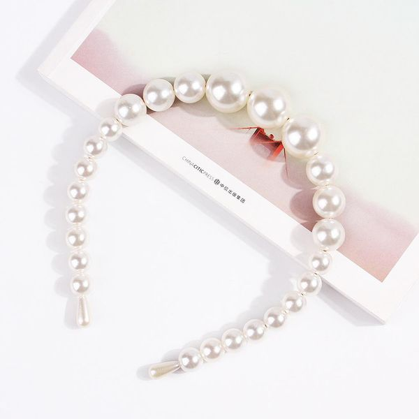 New fashion big pearl wild headband wholesale NHDM205055