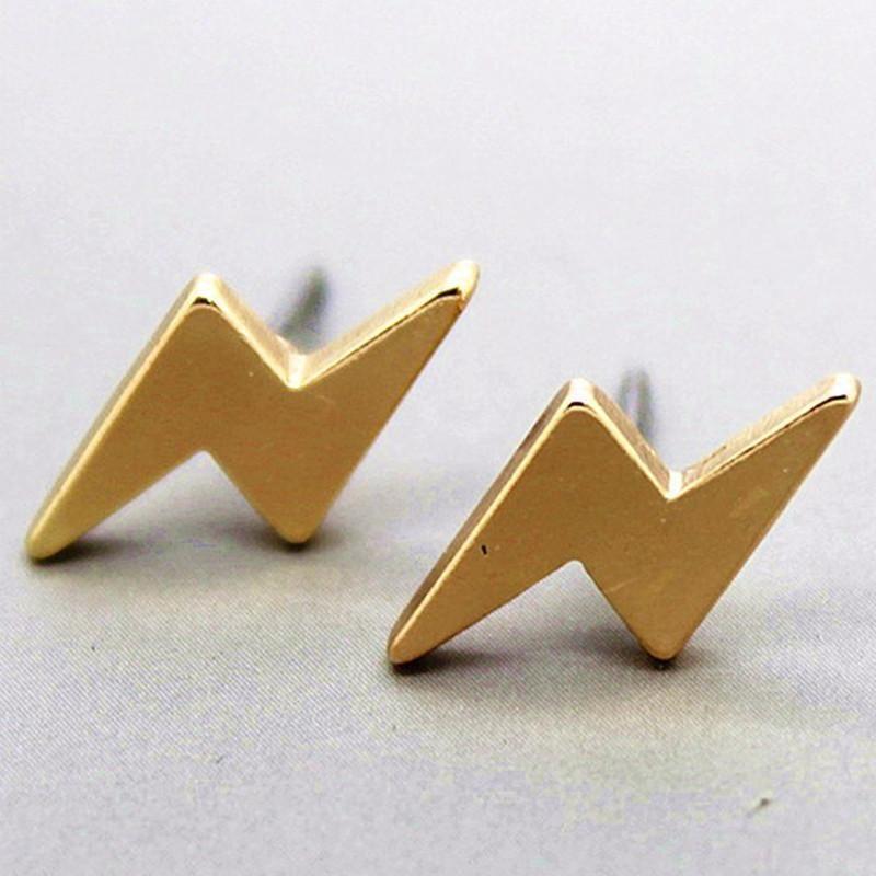 New alloy plating simple lightning earrings wholesale NHCU205064