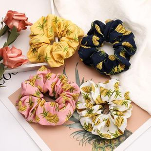 New fashion pineapple pattern Korean cheap hair ring women wholesale NHJE205089's discount tags