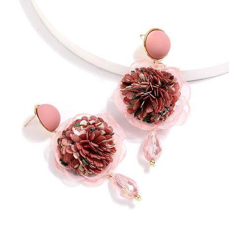 New Cloth Floral Korean Earrings for women Earrings NHJE205092's discount tags