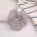 New fashion striped plaid lace fabric Korean cheap hair ring wholesale NHJE205095