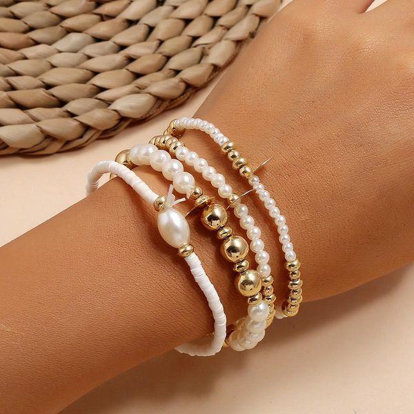 Sequin Imitation Pearl Mizhu Beach Seaside 4 Set of 4 Bracelets for women wholesale NHPV205117