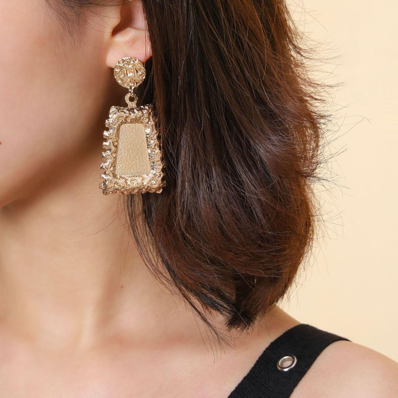 Geometric punk grain grain earring earrings NHPV205128
