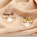 Joyera Concha Pendientes de estrella de mar Cuentas de anillo Pendientes de perlas NHNZ205165