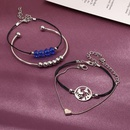 New Peach Heart World Map Bracelet Bead Bracelet Bracelet Set for women wholesale NHNZ205184