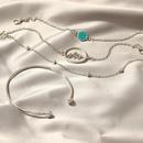 New Fashion Simple Fashion Silver Bracelet Round Bead Bracelet 4 Piece Bracelet for women wholesale NHNZ205183
