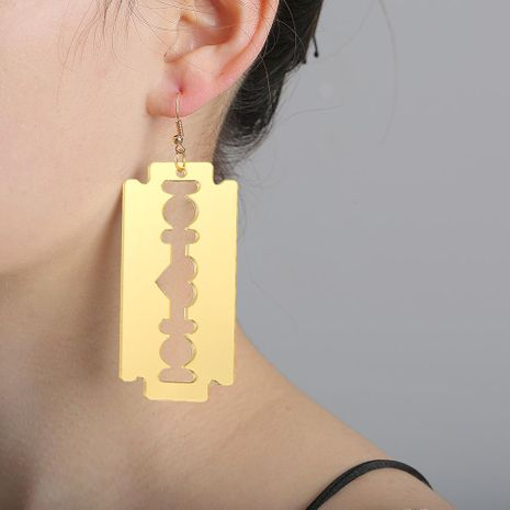 New fashion exaggerated large blade earrings female wild funny earrings NHJJ205191's discount tags