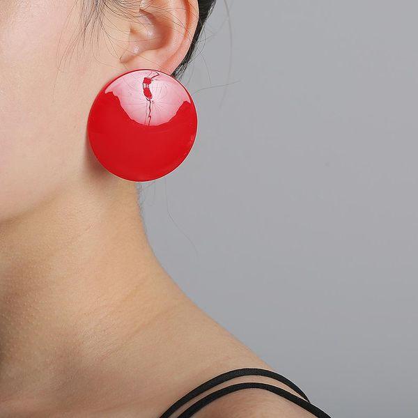 Korean acrylic sheet geometric earrings wholesale NHJJ205193