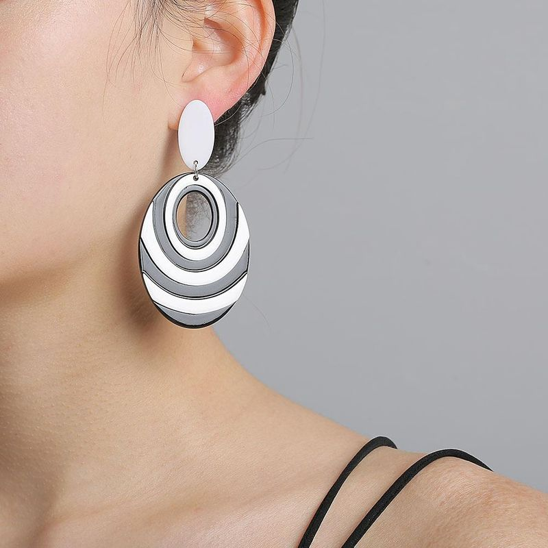 New Fashion Acrylic Black and White Earrings for women wholesale NHJJ205196