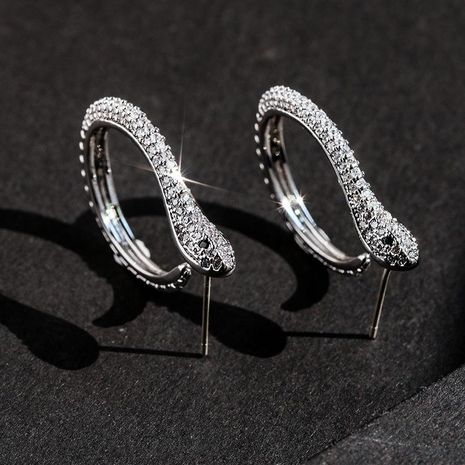 925 Silver Needle Simple Spirit Snake Earrings wholesales yiwu NHPP205205's discount tags