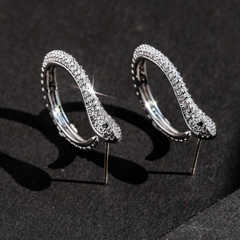 925 Silver Needle Simple Spirit Snake Earrings wholesales yiwu NHPP205205