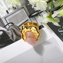 Fashion multielement alloy gemstone exaggerated ring women wholesale NHJQ205211