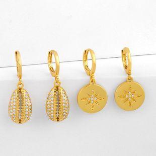 French light luxury shell earrings earrings women NHAS205216's discount tags