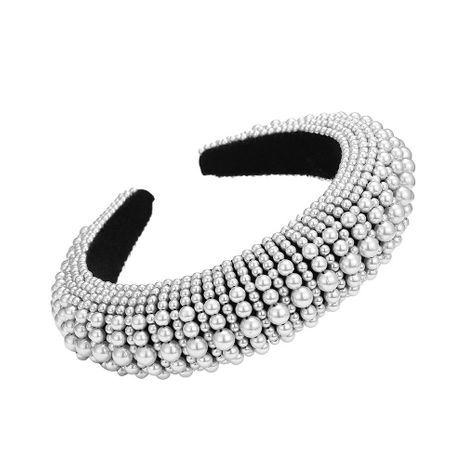 Thick sponge pearl hair hoop fashion headband hair accessories wholesale NHMD205246's discount tags