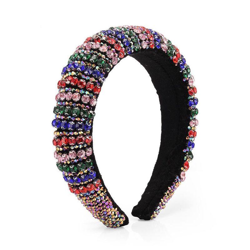 Baroque fashion headband colored full diamond delicate crystal headdress NHMD205247