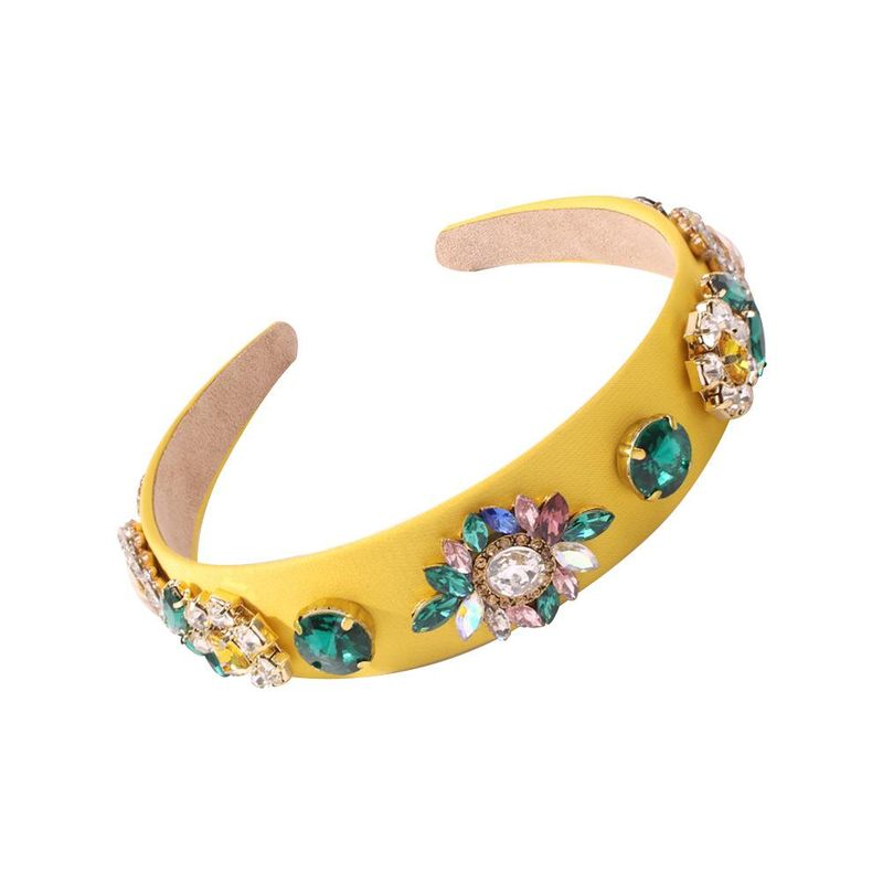 Women's vintage glass diamond hair hoop diamond baroque hair accessory NHMD205248