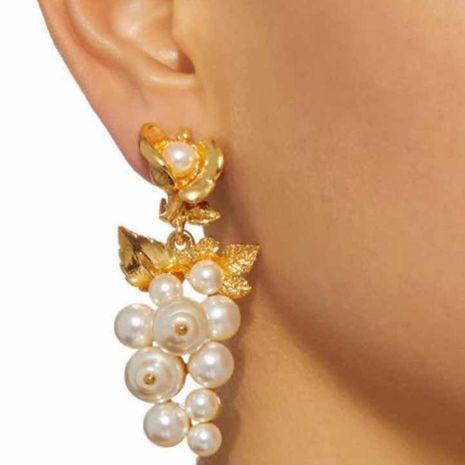 Korean New Fashion Imitation Pearl Geometric C-shaped Earrings for women wholesale NHMD205250's discount tags