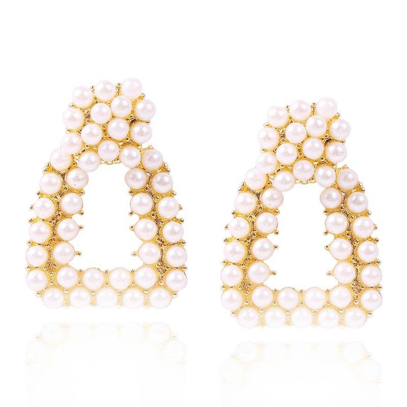 New Fashion Pearl Earrings Simple Geometric Baroque Earrings NHMD205255