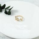 New 24K Real Gold Electroplated Zircon Ring Korean Fashion Ring NHQS205257