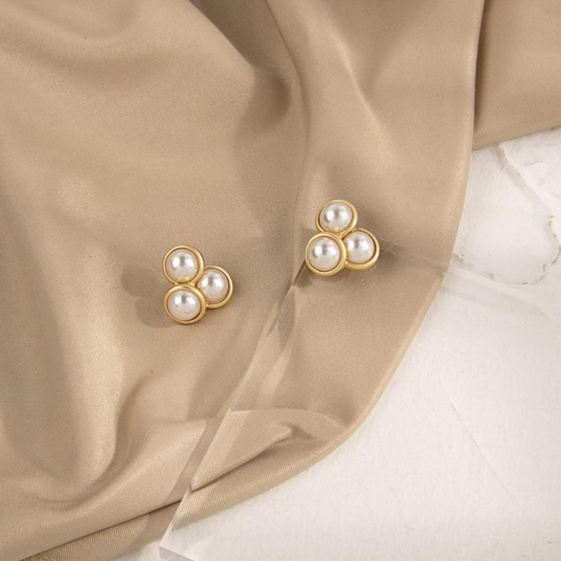 New jewelry pearl earrings popular S925 silver pin earrings women jewelry NHQS205258