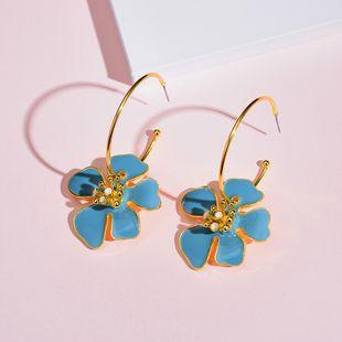 Yi wu jewelry New Bohemia Earrings Flower Circle Earrings Wholesale NHOT205723's discount tags
