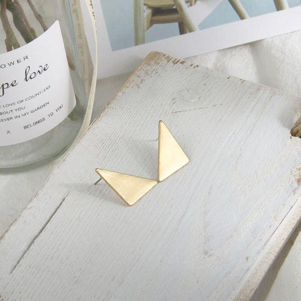 Earrings S925 Silver Needle Triangle Matte 2020 New Jewelry Earrings NHQS205263