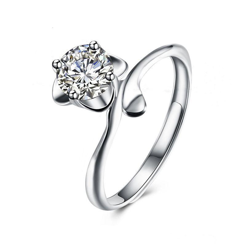 Fashion ring fashion rose sterling silver ring wholesale NHKL205327
