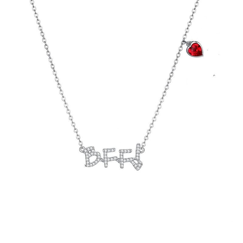 S925 Sterling Silver Letter 'BFF Necklace NHKL205333
