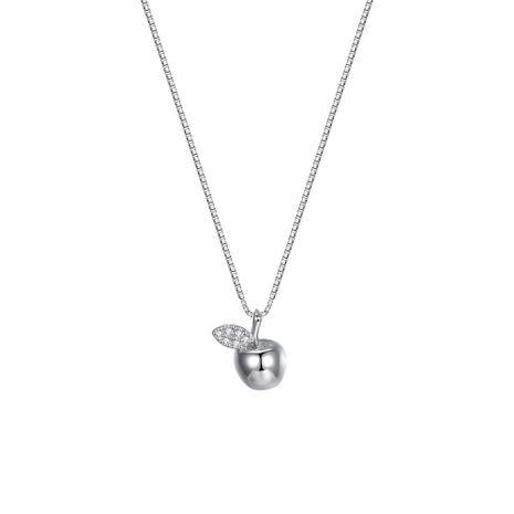 Collier pendentif mode petite pomme en argent sterling NHKL205337's discount tags