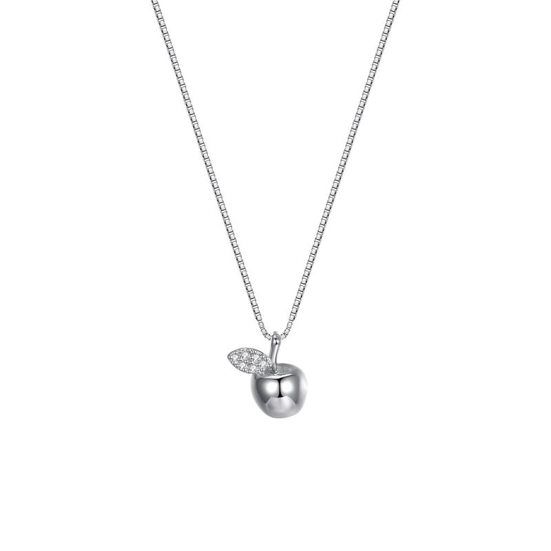 Fashion Little Apple Pendant Necklace in Sterling Silver NHKL205337