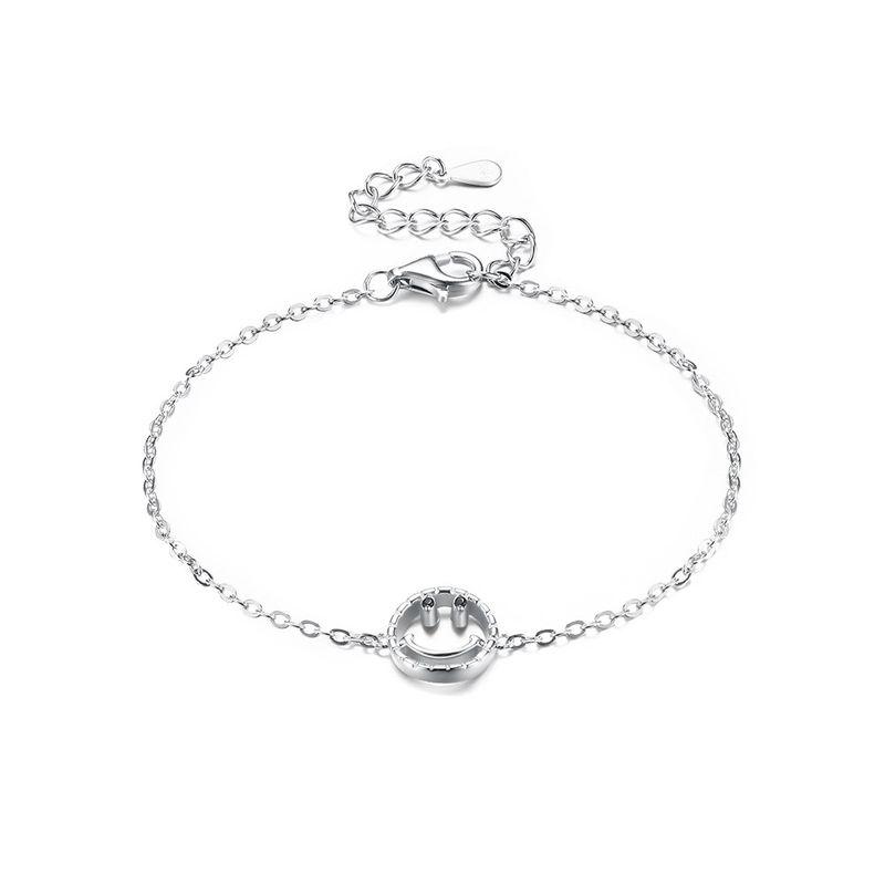 S925 Sterling Silver Smile Bracelet NHKL205342
