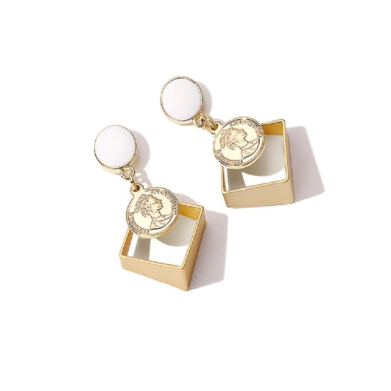 Fashion Stereo Epoxy Earrings Wholesale NHKL205344
