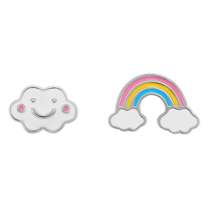 Jewelry Fashion Simple Rainbow Earrings Yiwu Wholesale NHKL205348