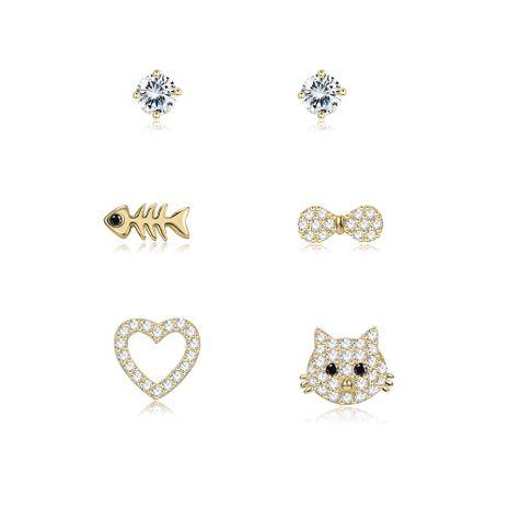 Bijoux de mode simple animal boucles d'oreilles Yiwu gros NHKL205349's discount tags